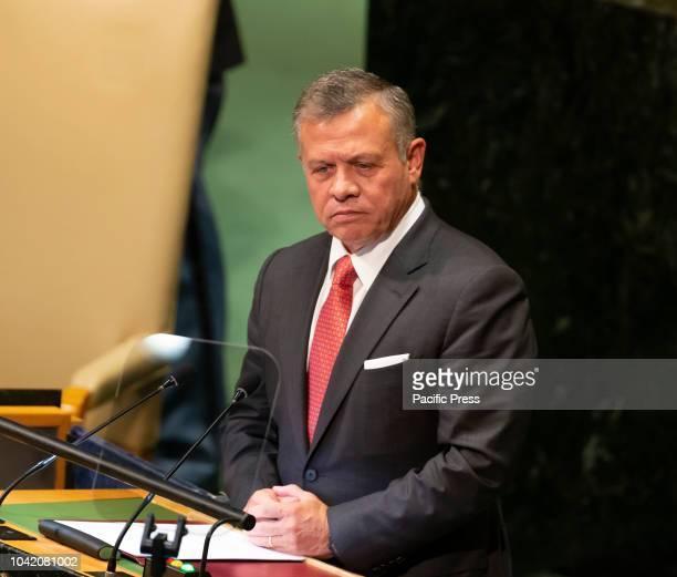 King of the Hashemite Kingdom of Jordan Abdullah II ibn Al Hussein speaks at 73rd UNGA session at United Nations Headquarters