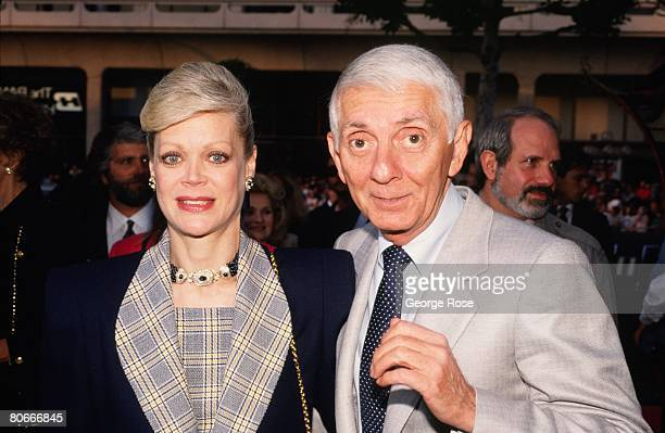 """King of TV primetime soaps and creator of """"Beverly Hills 90210"""" and """"Melrose Place,"""" Aaron Spelling and his wife Candy, attend a 1989 Beverly Hills,..."""