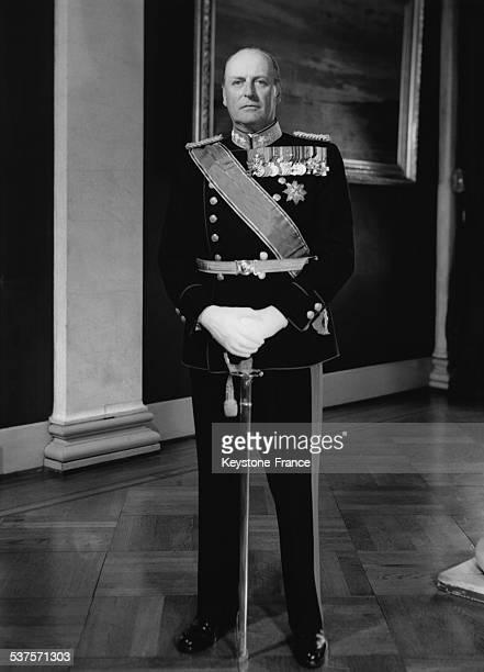 King Olav V in uniform circa 1950 Oslo Norway