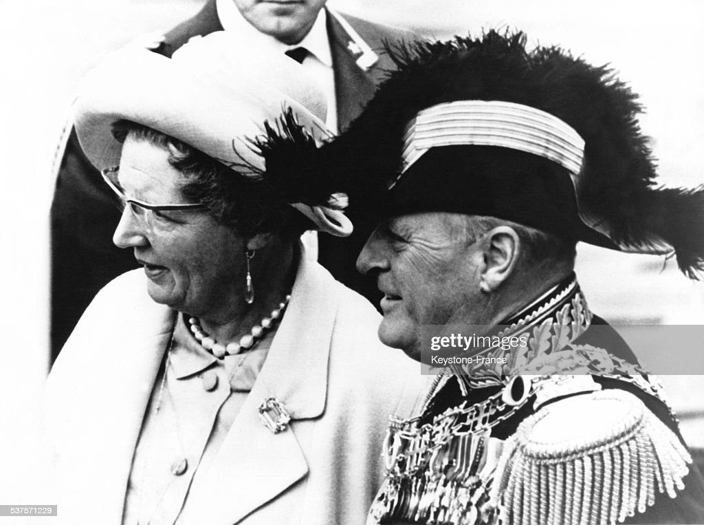 King Olav V of Norway and Queen Juliana in 1964 in the Netherlands.