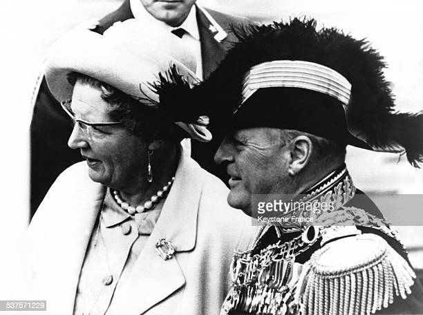 King Olav V of Norway and Queen Juliana in 1964 in the Netherlands