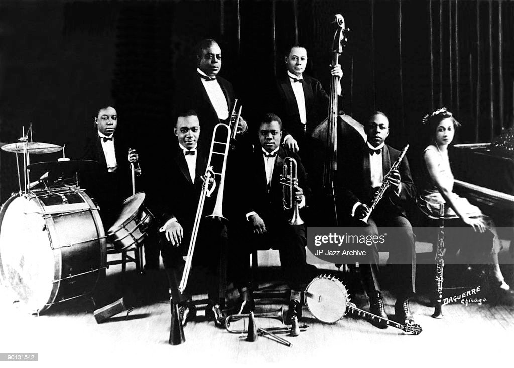 King Oliver With Louis Armstrong : Nachrichtenfoto