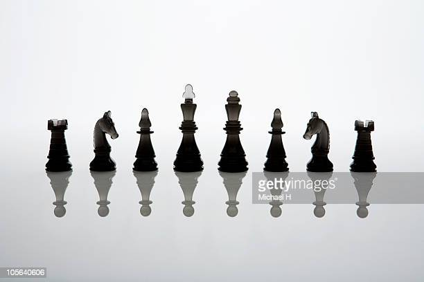 king or the queen of the imitation - chess stock pictures, royalty-free photos & images