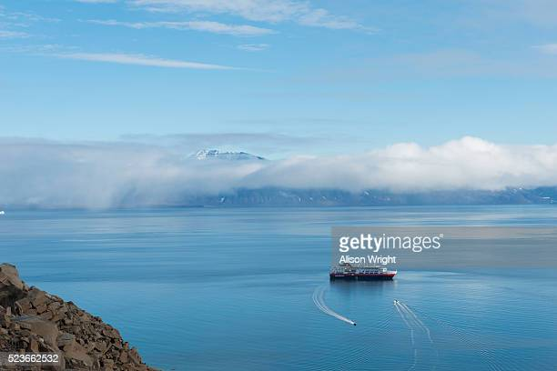 king oscars fjord, northeast greenland - northeast stock photos and pictures