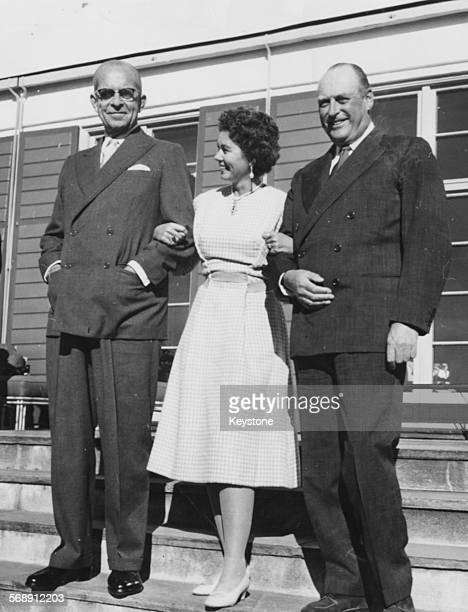 King Paul of Greece with his wife Queen Frederica and King Olav of Norway as the Greek Royal family visit Oslo, September 1st 1959.
