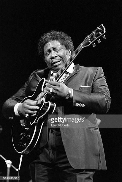 BB King performing at the Beacon Theater in New York City on April 5 1986