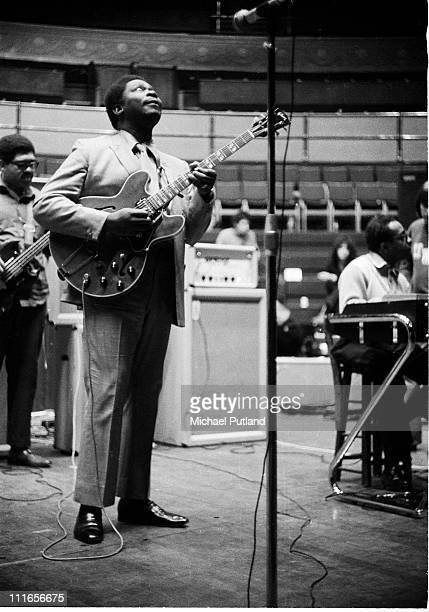 BB King performs at a sound check at the Royal Albert Hall London 22nd April 1969