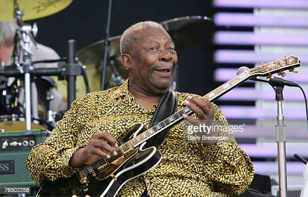 BB King performs at Eric Clapton's Crossroads Guitar Festival 2007 held at Toyota Park on July 28 2007 in Bridgeview Illinois