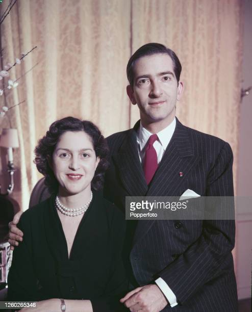 King Peter II of Yugoslavia the last King of Yugoslavia posed with his wife Queen Alexandra of Yugoslavia during their time in exile in February 1955
