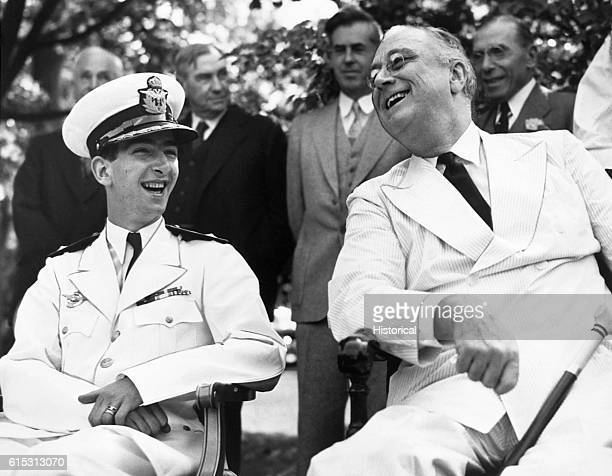 King Peter II of Yugoslavia with FDR