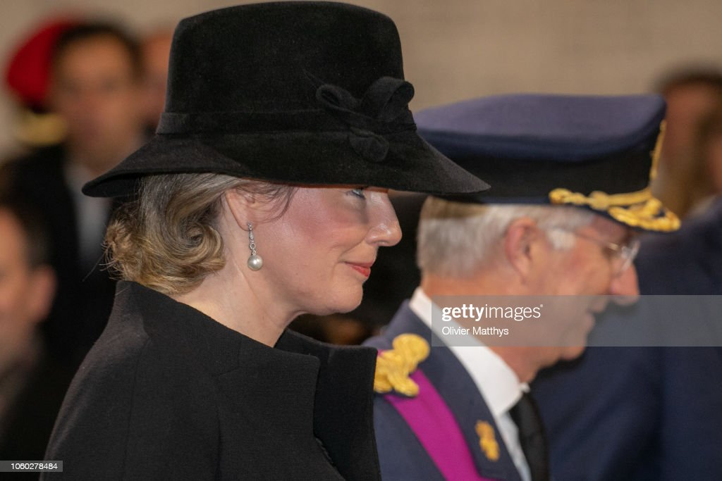 Members Of The Royal Family Attend The Commemoration of The 100th Anniversary Of The End Of The First World War In Ypres : News Photo