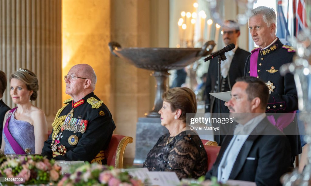 Sir Peter Cosgrove, Governor General Of The Commonwealth of Australia On Ofiicial Visit In Belgium : News Photo