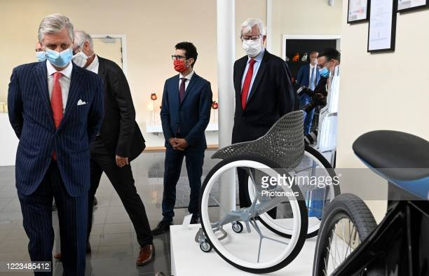 King Philip pays a visit to the headquarters of the company Materialize in Heverlee. Materialize is a global pioneer in 3D printing and was chosen as...
