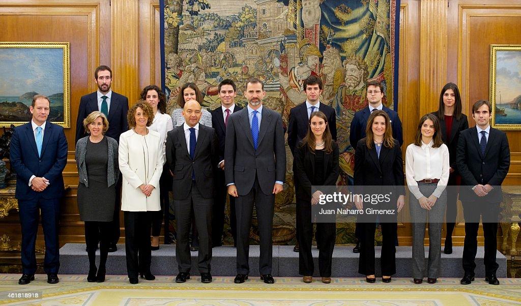King Felipe VI of Spain Attends Audiences at Zarzuela Palace : News Photo