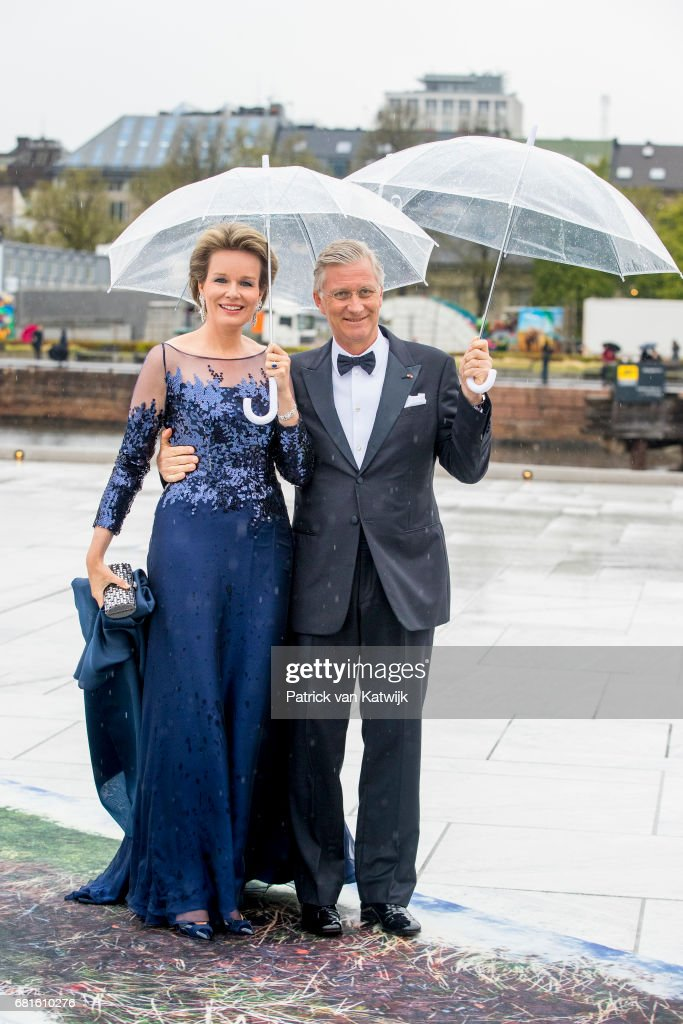 King and Queen Of Norway Celebrate Their 80th Birthdays - Banquet At The Opera House - Day 2 : Nieuwsfoto's