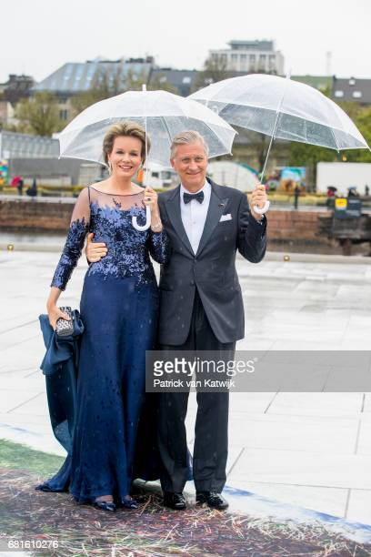 King Philippe and Queen Mathilde of Belgium at the Opera House on the ocassion of the celebration of King Harald and Queen Sonja of Norway 80th...