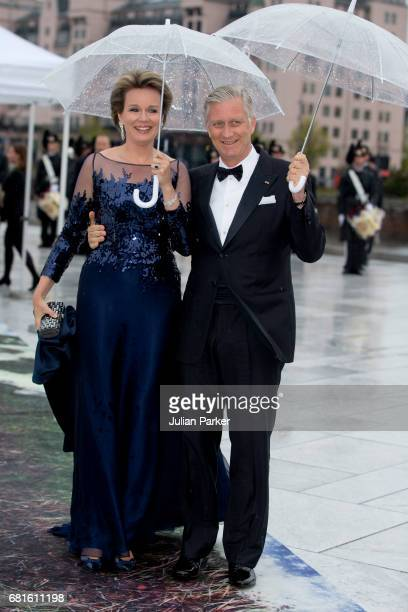 King Philippe and Queen Mathilde of Belgium attend a Gala Banquet hosted by The Government at The Opera House as part of the Celebrations of the 80th...
