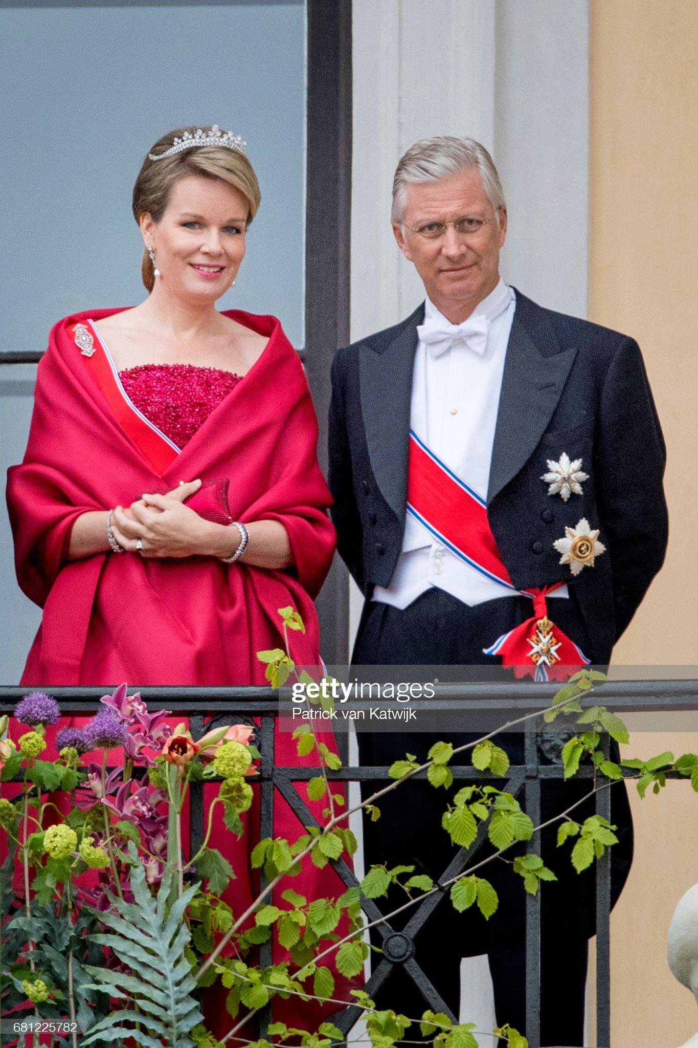 Вечерние наряды Королевы Матильды King and Queen Of Norway Celebrate Their 80th Birthdays - Day 1 : News Photo