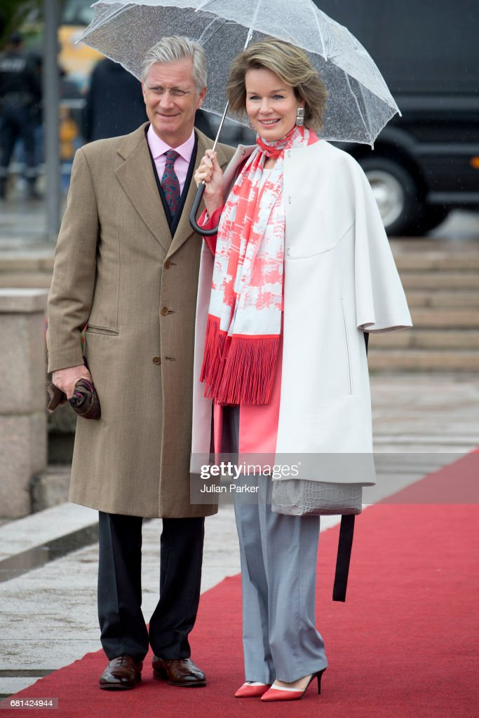 King and Queen Of Norway Celebrate Their 80th Birthdays - Lunch on the Royal Yacht - Day 2 : Nachrichtenfoto