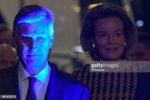 King Philippe and Queen Mathilde pictured during their visit of the province Flemish Brabant Visit of Videohouse firm located in Vilvoorde that...
