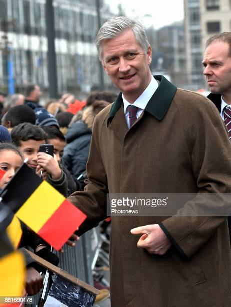 King Philippe and Queen Mathilde pictured during their visit of the province Flemish Brabant King Philippe during the visit of the city of Vilvoorde