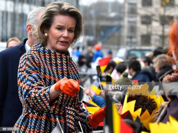 King Philippe and Queen Mathilde pictured during their visit of the province Flemish Brabant Queen Mathilde during the visit of the city of Vilvoorde