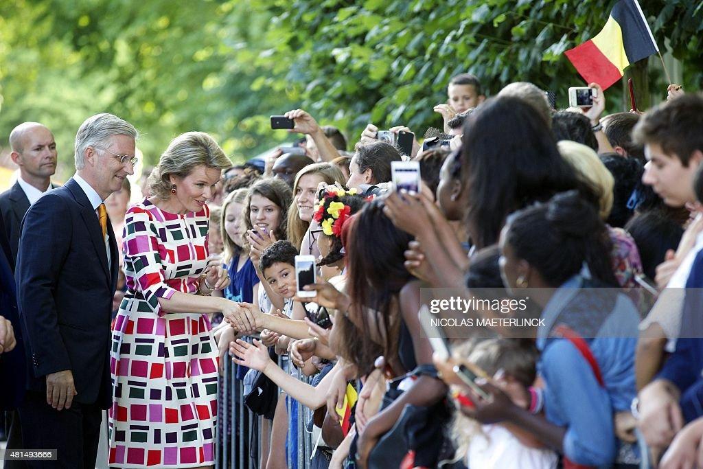 BELGIUM-NATIONAL-DAY-ROYALS : News Photo
