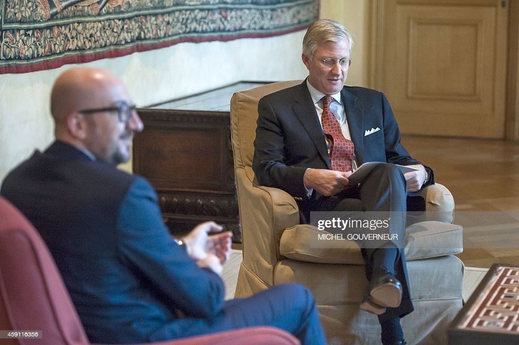 BELGIUM-POLITICS-ROYALS-GOVERNMENT : News Photo