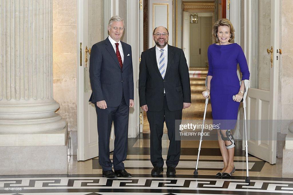 BELGIUM-EU-ROYALS : News Photo