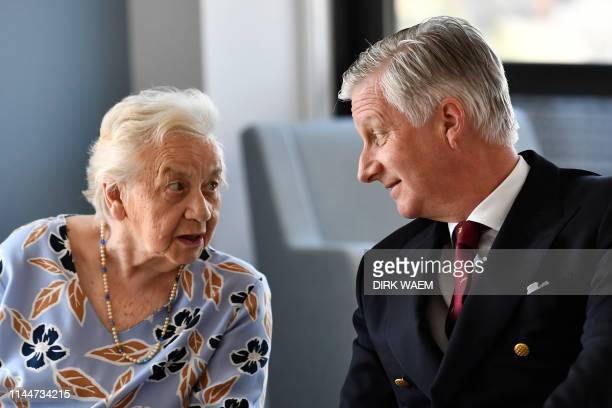 King Philippe Filip of Belgium pictured during a visit of the king to Maison Vesale Huis Vesale Tuesday 14 May 2019 in Brussels At Maison Vesale Huis...