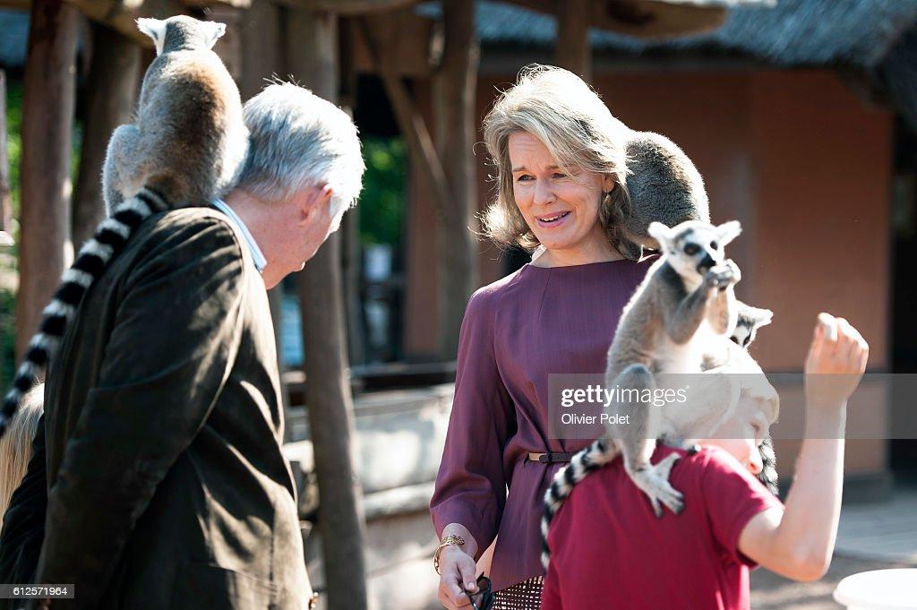 Belgium - Royal Family at the Pairi Daiza Park : News Photo