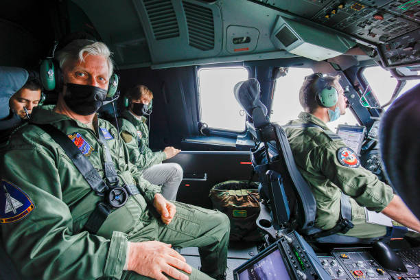 BEL: King Philippe Of Belgium Visits The 15Wing Air Transport At Military Airport Melsbroek To View the New Airbus A400M In Brussels