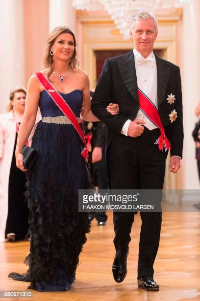 CORRECTION King Philippe of Belgium and Princess Märtha Louise of Norway King Carl Gustaf of Sweden and Crowm Princess MetteMarit of Norway arrive...