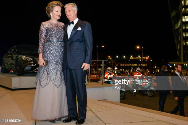 King Philippe of Belgium and Queen Mathilde arrive prior to Grand Duke Henri of Luxembourg Hereditary Grand Duke Guillaume and Hereditary Grand...