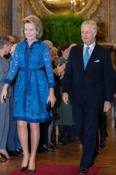 BEL: King Philippe Of Belgium And Queen Mathilde Attends The Award Honorary Decorations Ceremony At The Royal Palace In Brussels
