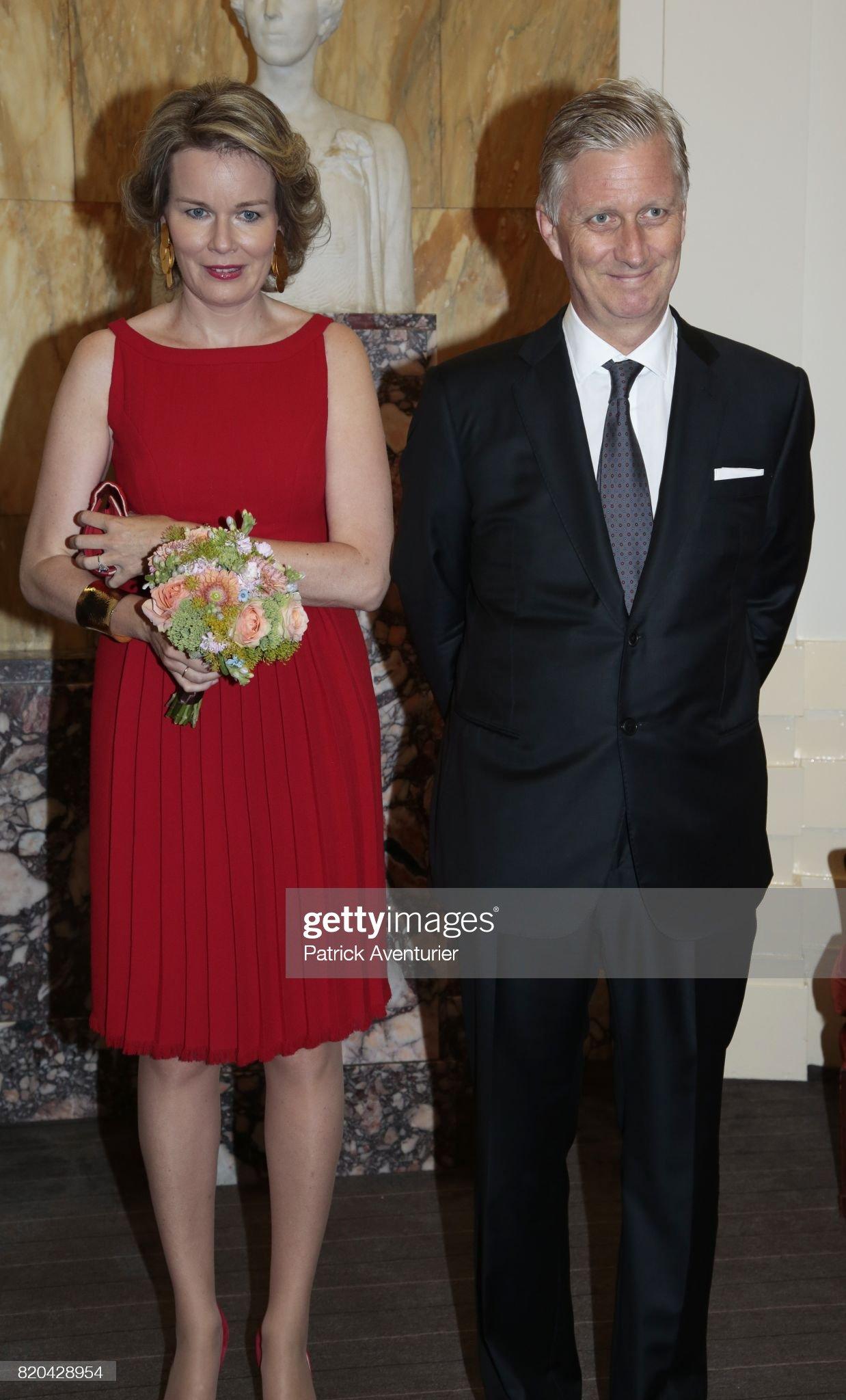 Вечерние наряды Королевы Матильды National Day Of Belgium 2017 : News Photo