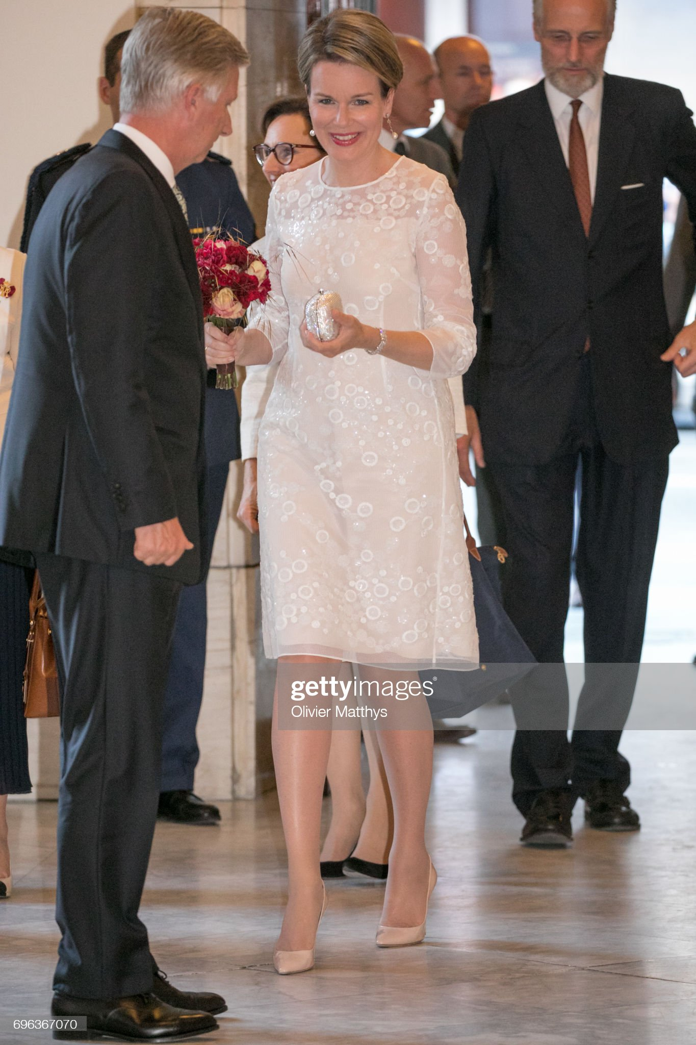 Вечерние наряды Королевы Матильды King Philippe Of Belgium And Queen Mathilde Of Belgium Attend A Concert At Palais Des Beaux Arts : News Photo