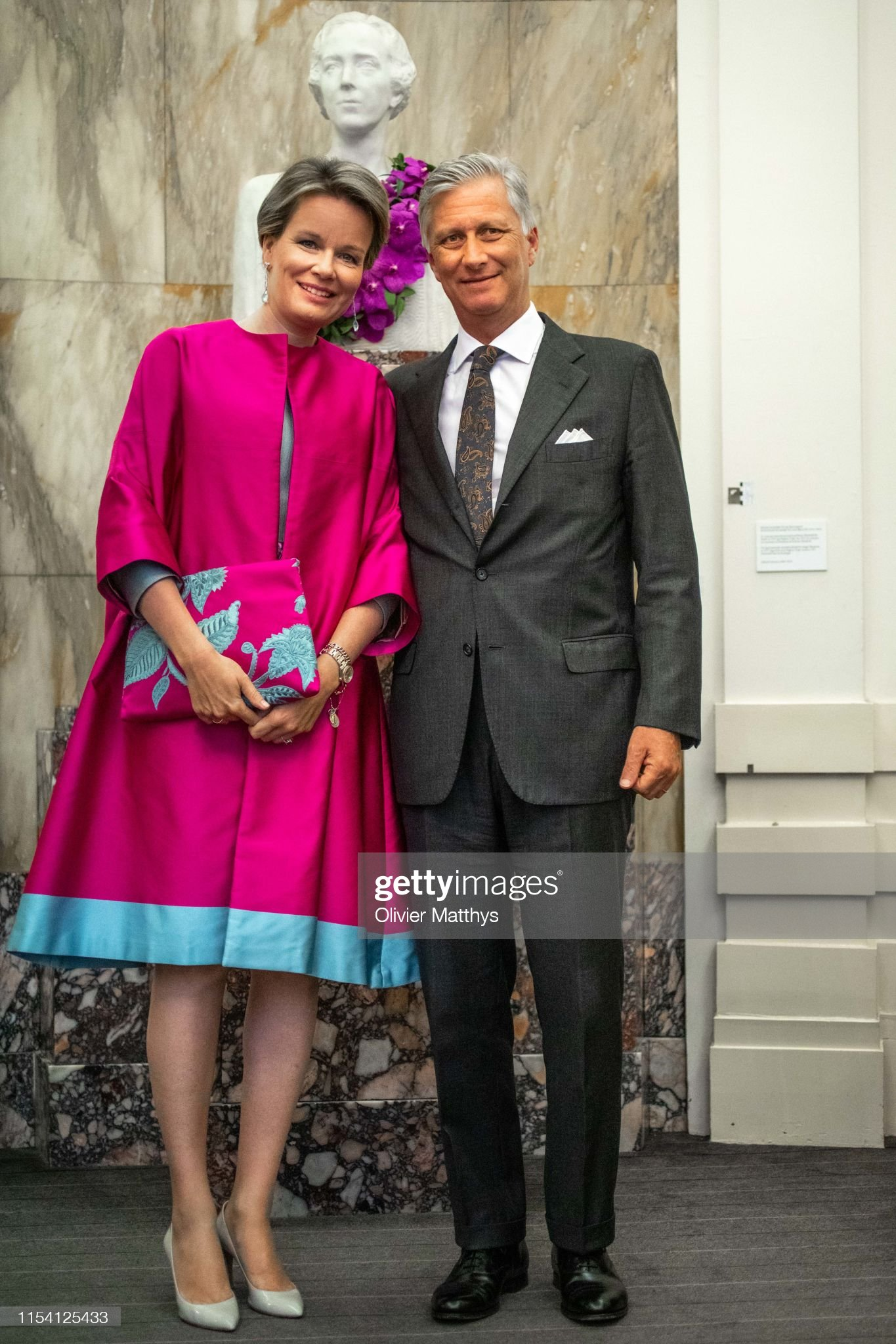 King Philippe Of Belgium And Queen Mathilde Of Belgium Attends The Closing Of The International Music Concurs At Bozar : News Photo