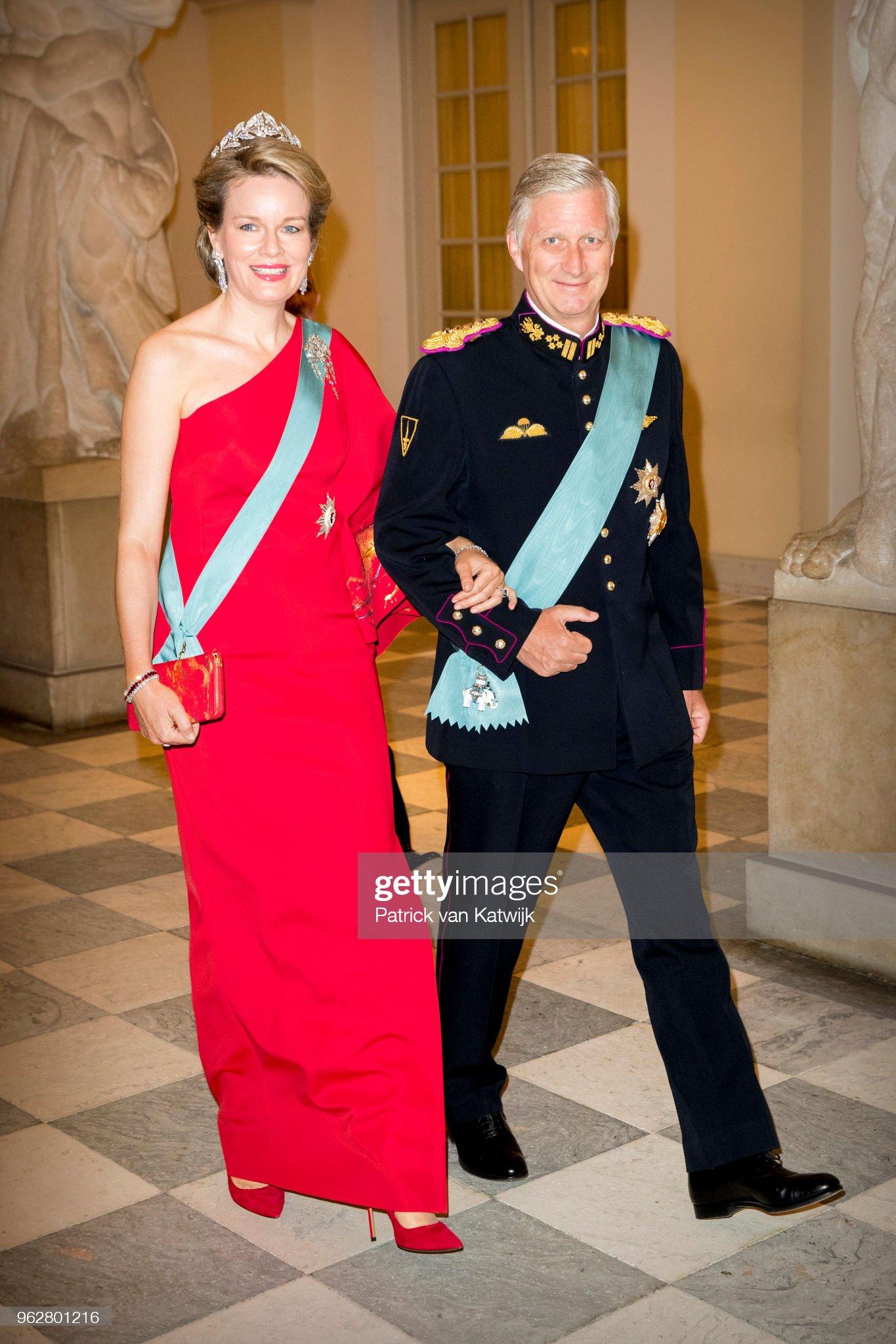 Вечерние наряды Королевы Матильды Crown Prince Frederik of Denmark Holds Gala Banquet At Christiansborg Palace : News Photo