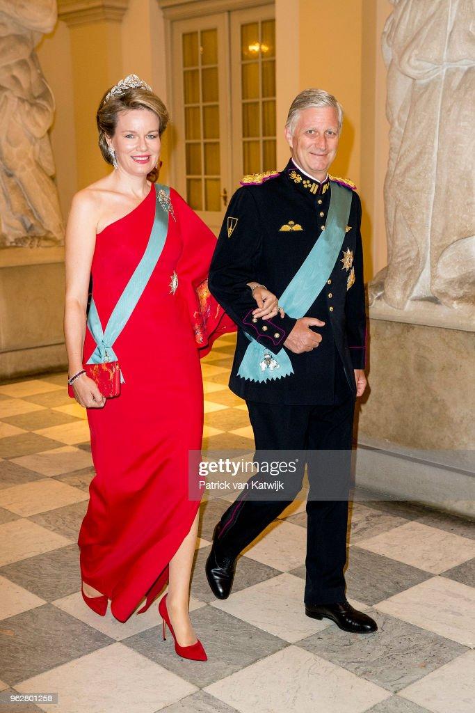 Crown Prince Frederik of Denmark Holds Gala Banquet At Christiansborg Palace : Fotografía de noticias