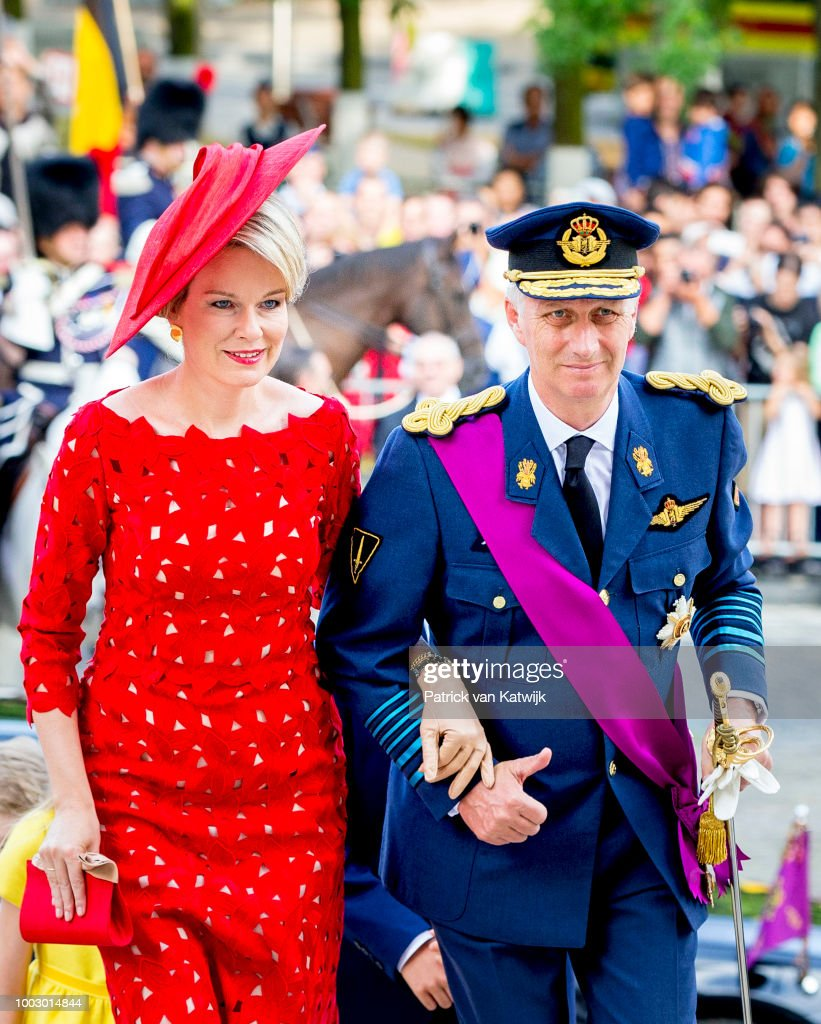 Belgian Royals Attend National Day : Foto jornalística