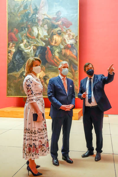 BEL: King Philippe Of Belgium And Queen Mathilde Of Belgium Visit The Royal Museums Of Fine Arts