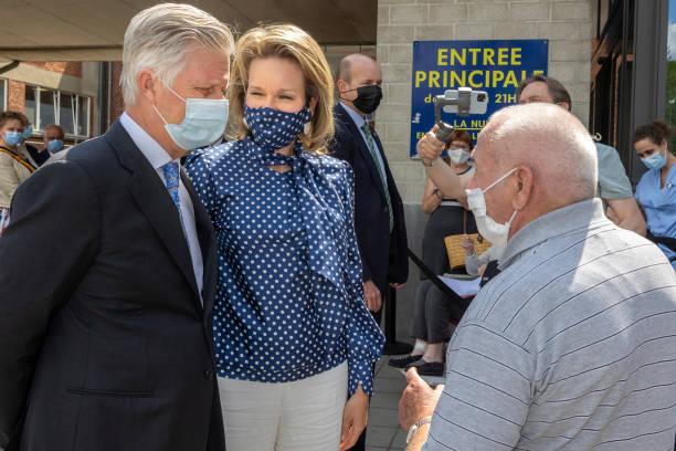 BEL: King Philippe Of Belgium And Queen Mathilde Visit Inter-Communal Healthcare Organisation Vivalia's Ardennes Hospital Center CHA