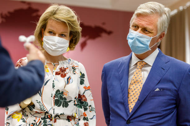 BEL: King Philippe Of Belgium And Queen Mathilde Visit The Antwerp Tropical Institute Of Medicine