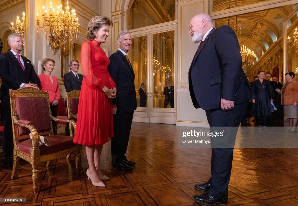 King Philippe Of Belgium Welcomes Heads of European Institutions and EU Permanent Representatives For A New Years Receptio : Nyhetsfoto