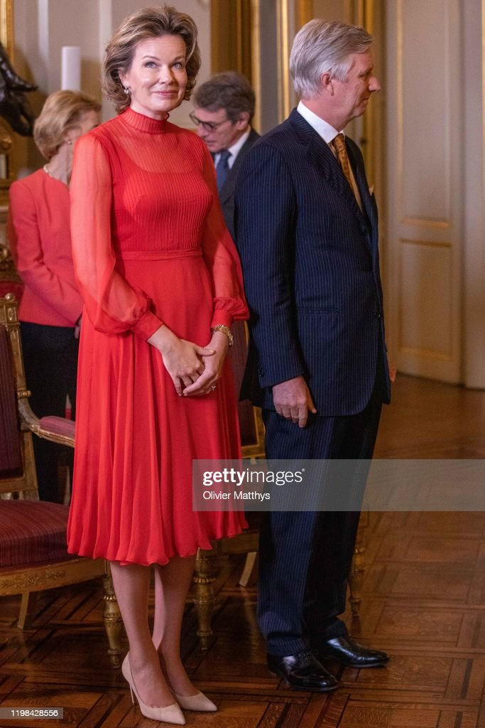 King Philippe Of Belgium Welcomes Heads f European Institutions and EU Permanent Representatives For A New Years Reception : News Photo