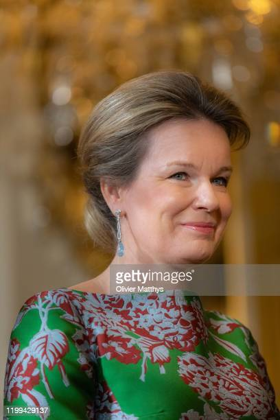 King Philippe of Belgium and Queen Mathilde welcome the Heads of Foreign Diplomatic Missions to Belgium for a New Year's reception at the Royal...