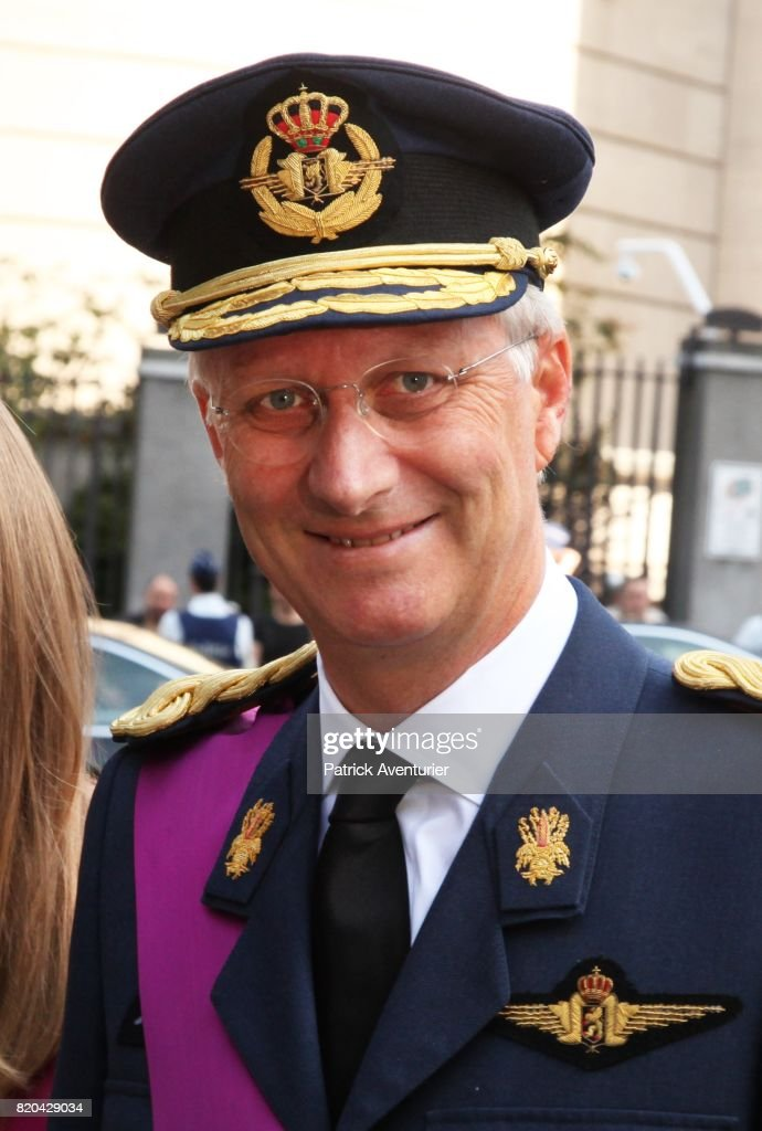 King Philippe of Belgium attend the Te Deum mass on the occasion of the Belgian National Day in the Cathedral on July 21, 2017 in Brussels, Belgium.