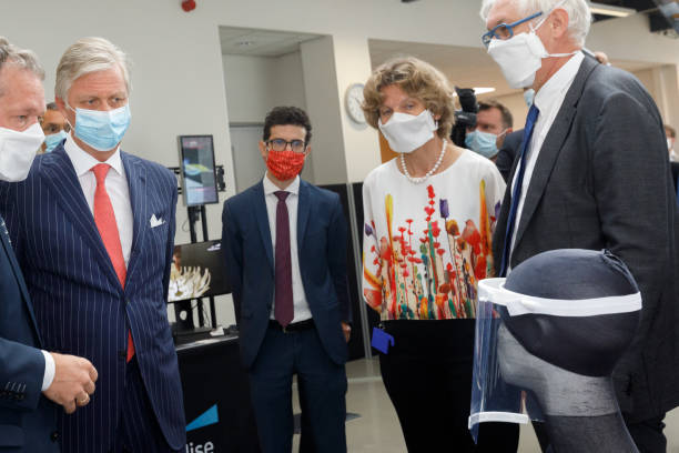 BEL: King Philippe Of Belgium Visits The Headquarters Of The Materialise Global Pioneer In 3D Printing Company In Heverlee