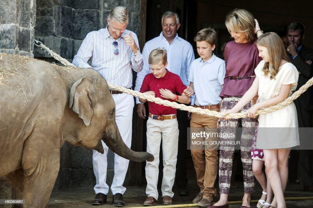 King Philippe of Belgium, Pairi Daiza director Eric Domb, Prince... News  Photo - Getty Images